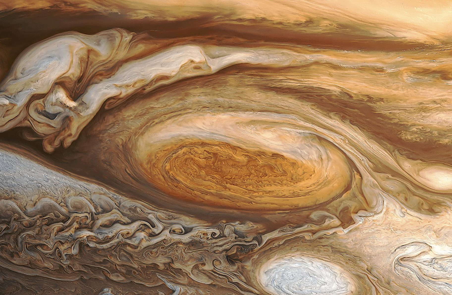 Jupiter's Great Red Spot (NASA via http://wanderingspace.net/category/jupiter/)